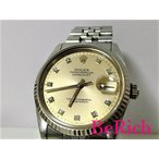 ロレックス デイトジャスト 16234G S番 10Pダイヤ メンズ 腕時計 自動巻き AT デイト SS/K18WG シルバー文字盤☆【中古】【送料無料】 bt1384