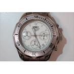 シャルル ホーゲル Charles Vogele メンズ 腕時計 CV-7841 クロノグラフ 白 文字盤 シルバー チタン SS アナログ クォーツ【中古】 ht1660