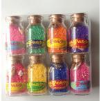 ショッピング星 星の砂の瓶 8瓶セット 赤 緑 黄 紫 青 オレンジ ピンク 青砂沖縄 全国新作 送料無料