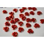 アルミ薔薇 レッド レジン 10mm 12個 アクセサリーパーツ ビーズクラブ