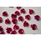 アルミ薔薇 赤紫 レジン 10mm 12個 アクセサリーパーツ ビーズクラブ
