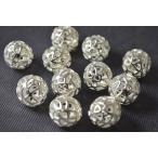 【 ビーズクラブ 】 アクセサリーパーツ ロンデル 隕石 古代銀 15mm 10個セット
