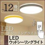 LEDシーリングライト 12畳 CL-E12-RING 木枠 木目 ビームテック