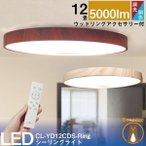 LEDシーリングライト LED シーリングライト 12畳用 連続調光 調色 5,800lm 天井 照明 器具 CL-YD12CD-RING 5年製品保証 IRODORI PLUM