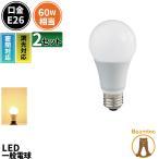 2個セット LED 電球 E26 調光器対応 60W相当 全配光タイプ LED 電球色 一般電球 led照明 ライト LED照明 LDA8LD-C60--2 IRODORI PLUM
