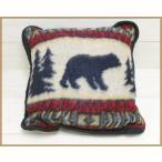 Earth Ragz Decorative Pirrow Bear Adventure cushion blanket / アースラグズ ジャガード ハイパイル クッション ベアー 熊