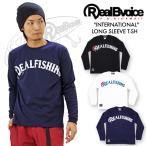 リアルビーボイス ロゴプリント長袖Tシャツ RealBvoice INTERNATIONAL REAL FISHING 16SPQ01 メンズ