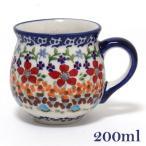 ポーランド食器 ポーリッシュポタリー ポーランド陶器・食器 マグカップ 220ML  フラワー柄 お花モチーフ マニュファクトゥラ社