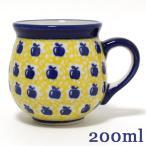 ポーランド食器・陶器 ポーリッシュポタリー りんご柄マグカップS 0.2L マニュファクトゥラ社 K67−ALC26Aポーリッシュ・ポタリー