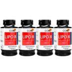 リポエイト Lipo8 4本 1本 50錠  ファセオラミン、ガルシニアカンボジア、キトサン配合 天然成分 海外発送便商品:日時指定不可