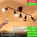 シーリングライト リモコン付 LED 照明 5灯 クインク Quinque BBR-006 ボーベル BeauBelle スポットライト
