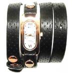 LAMERCOLLECTIONS ラメールコレクション アメリカ の 腕時計 ブレスレット 多重 レディース ブラック ゴールド 送料無料 セール うでとけい 海外 ブランド