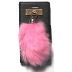 ショッピングセレブ JAGGER EDGE ジャガーエッジ アメリカ ウオレット カード入れ ウォレット Butterfly smart wallet HOT PINK bunny charm iphone 6 6s ケース 海外 ブランド