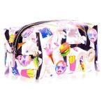 セール skinnydip ポーチ かわいい ピンク 透明 MTV キラキラ ファスナー まちつき 化粧 メイク 小物入れ 透明 まちつき