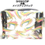 SKINNYDIP スキニーディップ かわいい化粧ポーチ マチありのファスナーポーチ 透明やキラキラなど サボテン スター 海外ブランド