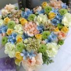 花 ギフト プレゼント フラワー ギフト 誕生日 結婚 お礼 感謝 アレンジメント ハート ラージ 季節のお花を使った生花 フラワーケーキ hl