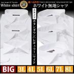 ワイシャツ 3L 4L 5L 6L 7L 8L 大きいサイズ 白 無地 白無地 長袖 安い 冠婚葬祭 葬儀 葬式