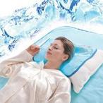 【訳あり】スペースアイスシートひえひえ枕カバー 『アウトラストと冷却ジェルのW効果の快眠グッズ』エアコンマットそよも良いよ!