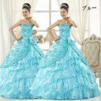 Other - カラードレス ウェディングドレス、二次会、ロングドレス、エンパイアドレス、ウエディングドレス、ビスチェタイプhs100