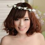 花冠、花嫁、髪飾り、ウエディング,ヘッドアクセ、ヘッドアクセサリー,ヘアアクセサリー、コサージュ、ヘ...