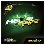 アンドロ ANDRO 表ソフトラバー HEXER PIPS+(ヘキサーピップスプラス) [カラー:レッド] [サイズ:1.7] #112273-RD