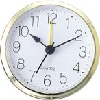 (500円OFFクーポン 1/4 23:00まで)アーテック 丸型時計 ゴールド(アラーム付) ARTEC