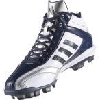 アディダス アディピュアT3 MID ポイント 野球スパイク [サイズ:25.5cm] [カラー:クリスタルホワイト×カレッジネイビー] #AQ8360 ADIDAS