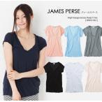 JAMES PERSE ジェームスパース High Gauge Jersey Deep V tee ハイゲージジャージーディープVネックTシャツ