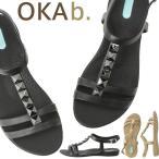 オカビー/OKA b. デミ Tストラップ サンダル トングサンダル 靴 ビーチサンダル 歩きやすい 疲れにくい