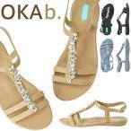 オカビー/OKA b. ノラ サンダル トングサンダル 靴 ビーチサンダル 歩きやすい 疲れにくい