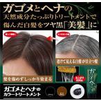 ガゴメとヘナのカラートリートメント 日本製 白髪染め sa sn