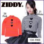 【ZIDDY/ジディー】ショートハイネックTシャツボーダー/130cm-FREE