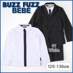 【D-3】【BUZZ FUZZ BEBE/バズファズ べべ】前立て配色フォーマルシャツ/120.130cm   / アウトレット ◆1520