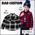 【RAD CUSTOM/ラッドカスタム】柄違いチェックシャツ/90-160cm