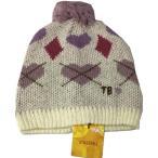 ベビー帽子 キッズ帽子 帽子ニット アーガイル ホワイト Sサイズ 50〜52cm TINKERBELL ティンカーベル メール便発送 日付時間指定不可 代引き不可