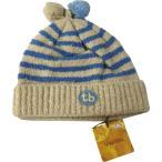 ベビー帽子 キッズ帽子 帽子ニット ブルーボーダー ベージュ  Mサイズ 46〜48cm TINKERBELL ティンカーベル メール便発送 日付時間指定不可 代引き不可