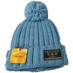 ベビー帽子 キッズ帽子 帽子ニット ボンボン付き 無地ブルー Sサイズ 50〜52cmTINKERBELL ティンカーベル メール便発送 日付時間指定不可 代引き不可