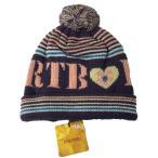 ベビー帽子 キッズ帽子 帽子ニット ボンボン付き ジャガードパープル Sサイズ 50〜52cm TINKERBELL ティンカーベル メール便発送 日付時間指定不可 代引き不可
