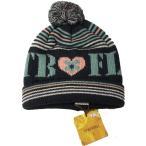 ベビー帽子 キッズ帽子 帽子ニット ボンボン付き ジャガードブラック  Sサイズ 50〜52cm TINKERBELL ティンカーベル メール便発送 日付時間指定不可 代引き不可