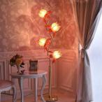 照明 フロアランプ アンティーク調 ヨーロピアン エレガント ロマンティック 姫系 デザイン ロータスフラワーランプGD