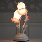 照明 卓上 テーブルランプ インテリアランプ ロココ調 アンティーク調 ヨーロピアン エレガント ロマンティック ピンクブッド2灯タッチランプ