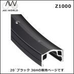 (ポイント10倍) AKI WORLD Z1000 20`ブラック 36H リム