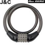 J&C JC-001W マイセットワイヤー錠 ブラック 自転車 鍵 ワイヤーロック