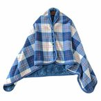 着る毛布 ひざ掛け ブランケット 毛布 チャック ルームウェア 肩掛け 静電気防止 厚手 あったか もこもこ 吸