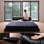 ベッド 高級感 安い 激安 レザーフロアベッド