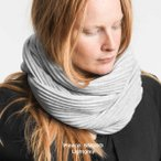 ショッピングデザイン 北欧のあたたかマフラー メンズ レディース プレゼント プリース スヌード ネックウォーマー デザインハウス ストックホルム (ライトグレイ)