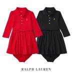 ラルフローレン ドレス ワンピース ブルマ付き 長袖 ベビー 女の子 子供服 (12ヶ月-24ヶ月)