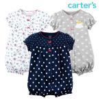 カーターズ ロンパース 半袖 ベビー 子供 女の子 半袖 前ボタン ショートオール