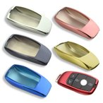 メルセデスベンツ キーカバー メタリック TPU製 全6色 キーケース メッキ BENZ Eクラス Aクラス  など スマートキー キーホルダー