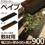古木をリアルに再現したコンクリ-ト製.枕木
